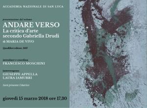 """Presentazione del volume """"Andare verso. La critica d'arte secondo Gabriella Drudi"""", di Maria De Vivo"""